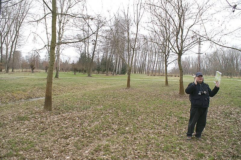 Park Stromovka - tudy vedla dle GPS trať, říká Tomáš.