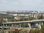 18-trams-on-bridge-between-stop-krejcarek-and-palmovka-3-10-2009