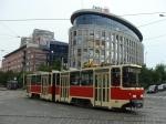 Zastávka tramvaje Vozovna Strašnice Praha 10 24.05.2018 - Prezenční jízda historické tramvaje KT4D rekonstruované v Praze pro Podstam