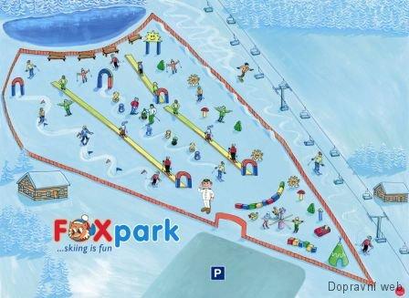 Foxpark ve skiareálu Lipno nad Vltavou