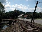 Trať č. 326 po povodních v Bludovicích