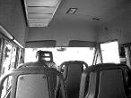 Interier nemocničního autobusu
