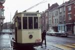 Tramvaj na konečné v belgickém Gentu