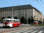 Historické trolejbusy Trata a Škoda v Ostravě
