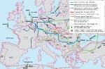 Mapa dopravních koridorů plynu