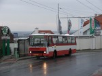 Plzeňský cyklobus v zastávce Černice, náves