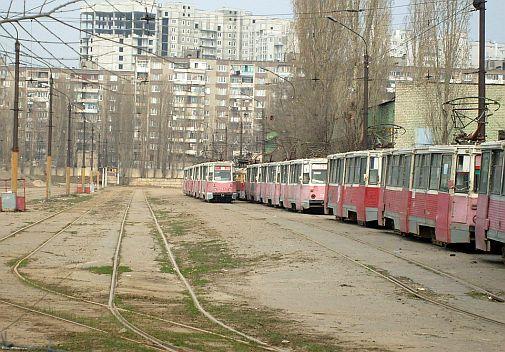 Voroněž, depo 3 (ostatní depa již neexistují), den po zrušení ... Foto Student71, 16.4.2009