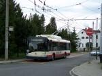 Trolejbus při zkušebních jízdách v Plzni