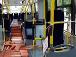Interier trolejbusu při zkušebních jízdách
