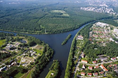 Gliwický kanál a odbočení průplavu Dunaj-Odra