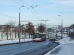 aktuální stav prací na trolejbusové trati