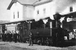 Nádraží Mariazell s lokomotivou řady U NÖLB