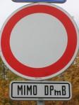 Zákaz vjezdu pro vozidla jiných DP!