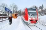 Spěšný vlak Tanvald - Dresden zastavil v nové zastávce