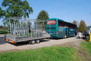 Zelené autobusy a cyklobusy po Šumavě