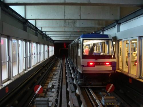Epalinges - metro 2 na konečné Croisettes dne 12.7.2011