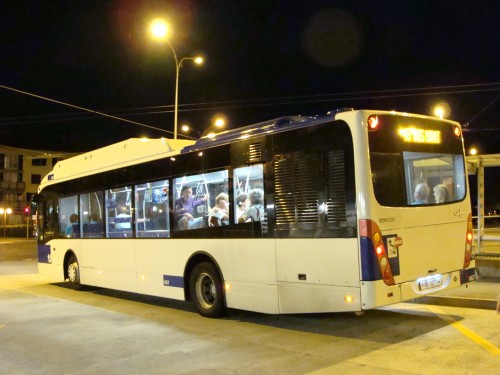 Epalinges - bus MHD č. 45 u konečné metra 2 Croisettes směr Bois-Murat dne 12.7.2011