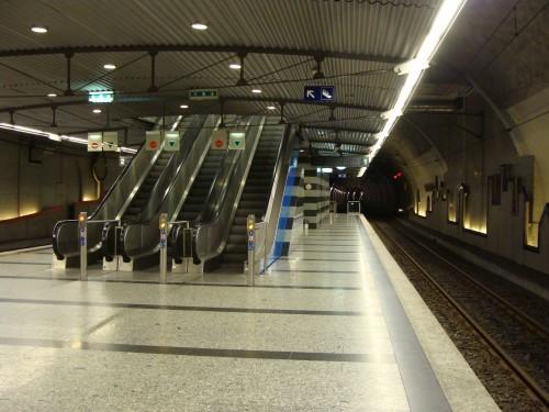 Lausanne - stanice LEB Railway Chauderon dne 15.7.2011