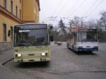 Oba trolejbusy 14Tr 13/6 určené původně pro Baku