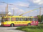 38 na jedné ze svých posledních služeb stojí ve smyčce Dopravní podnik