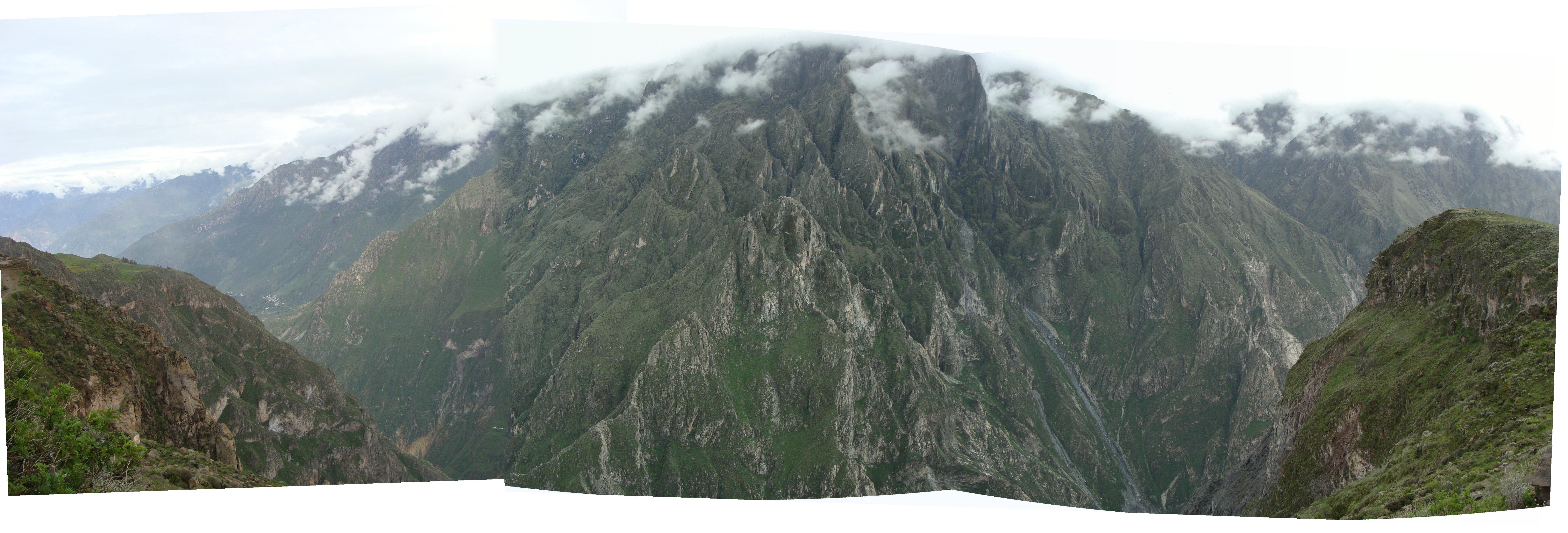 Kaňon Colca - panorama dne 19. 2. 2011