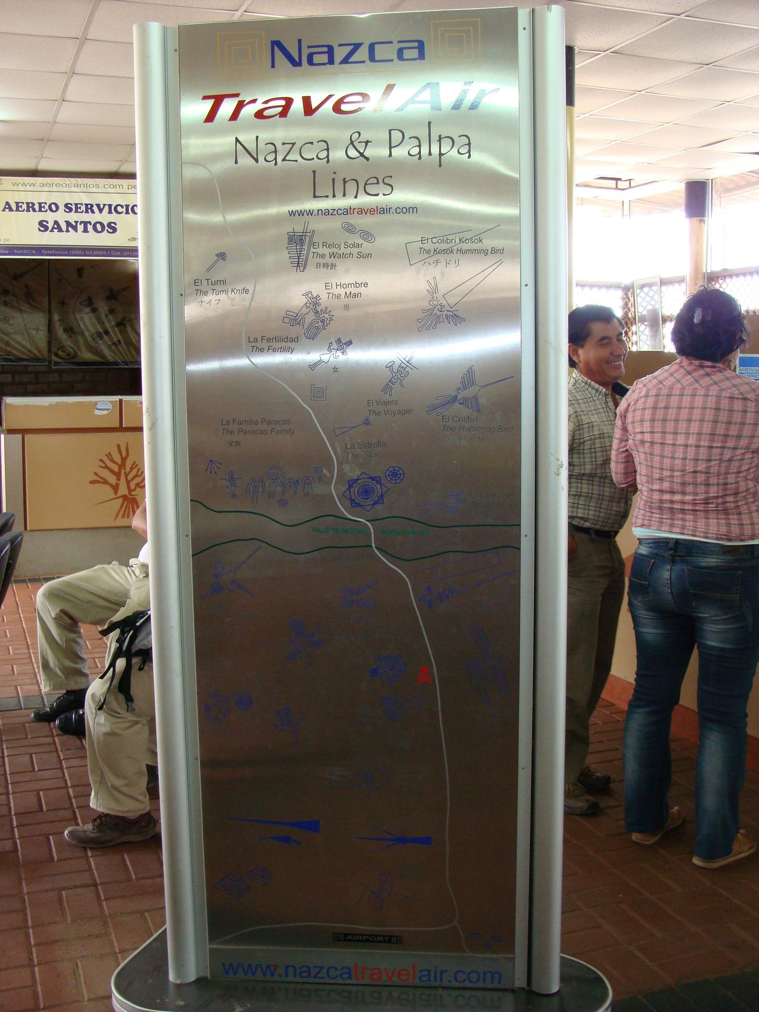 Nazca - plánek planiny z obrazci 21. 2. 2011