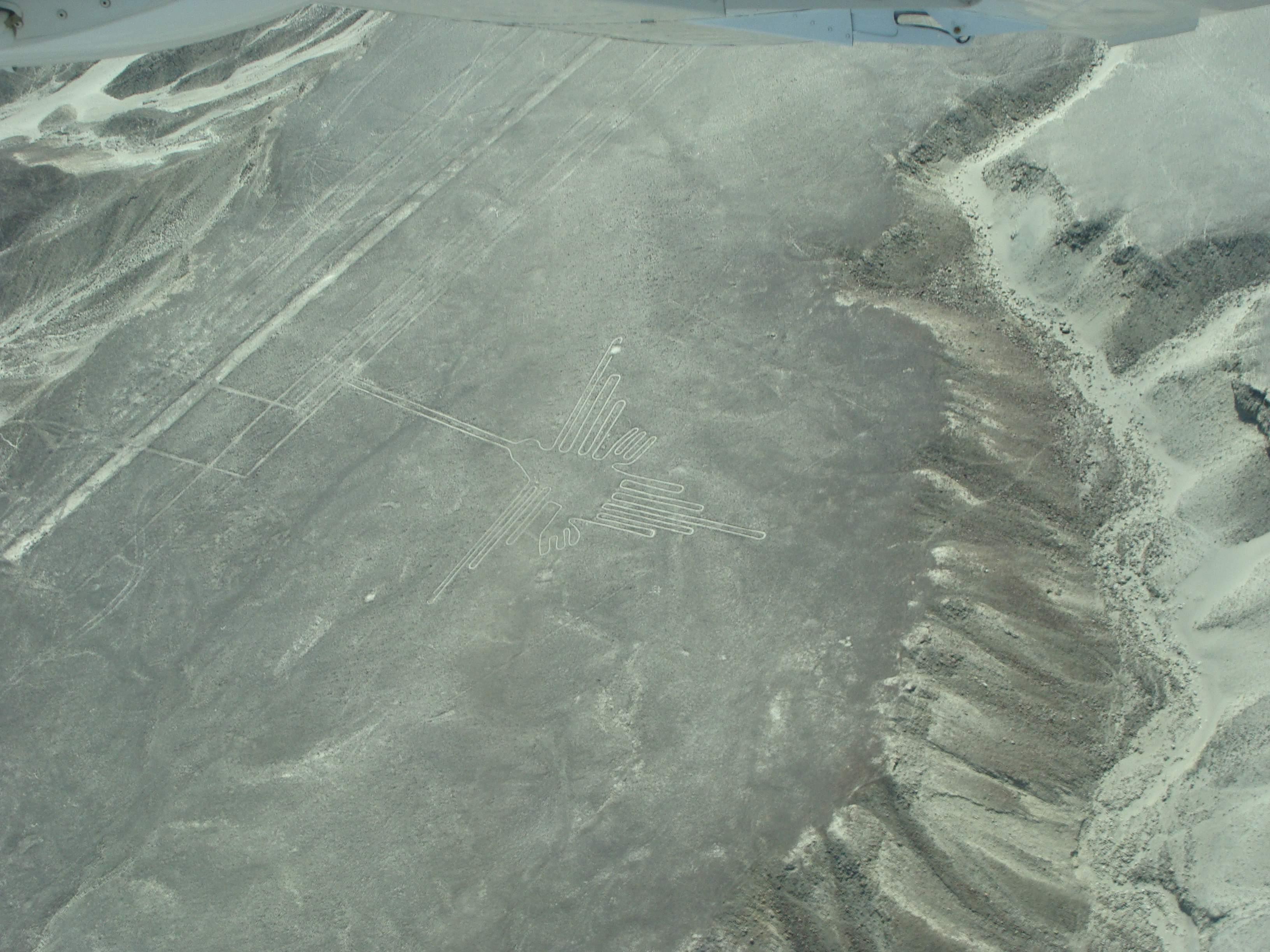Nazca - obrazec kolibříka 21. 2. 2011