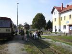 Výstup cestujících ve Mšeně 19.9.2014