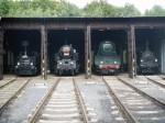 Parní lokomotivy v depu v Lužné u Rakovníka. (Ilustrační foto.)