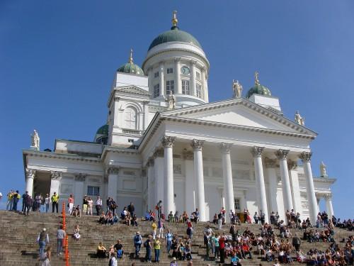 Helsinky - Luteránská katedrála na Senátním náměstí.