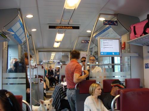 V přímšstském vlaku (S-Bahn).