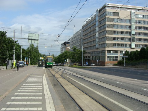Konečná tramvaje linky č. 9 Passilan asema - Nádraží Passila.