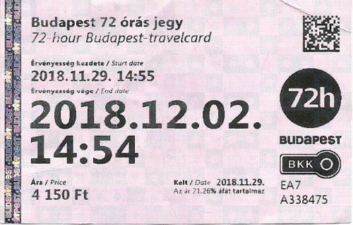 Třídenní jízdenka na MHD v Budapešti