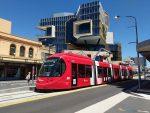 Tramvajová vozidla CAF Urbos 100 v australském Newcastlu