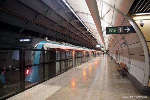 Souprava nového metra v australském městě Sydney od firmy Alstom